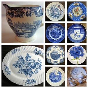 blue decorator plates . & Decorator Dish Collage Gallery