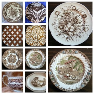 ... brown decorator plates .DecorativeDishes.net & Decorator Dish Collage Gallery