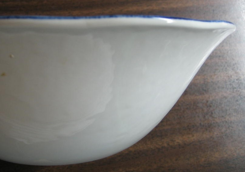 Cobalt Blue Toile Transferware Colonial Tavern NYC Large Bowl Edge www.DecorativeDishes.net