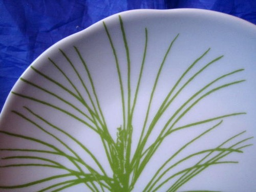 Green Pine Needles Brown Pine Cone Cabin Chic Plate