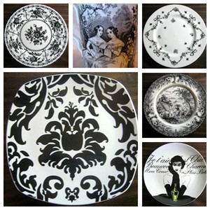 black-and-white-decorator-plates-
