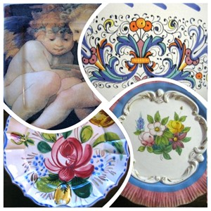 Italian Dish Collage www.DecorativeDishes.net
