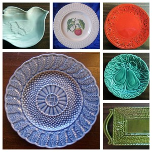 Majolica Dish Collage 